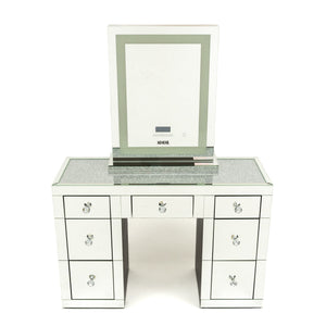 Vanity Station 2 Pieces- Crystal Top Vanity with Makeup Mirror XL Tall with Tri -temperature- BRISBANE PICKUP ONLY-IN STOCK