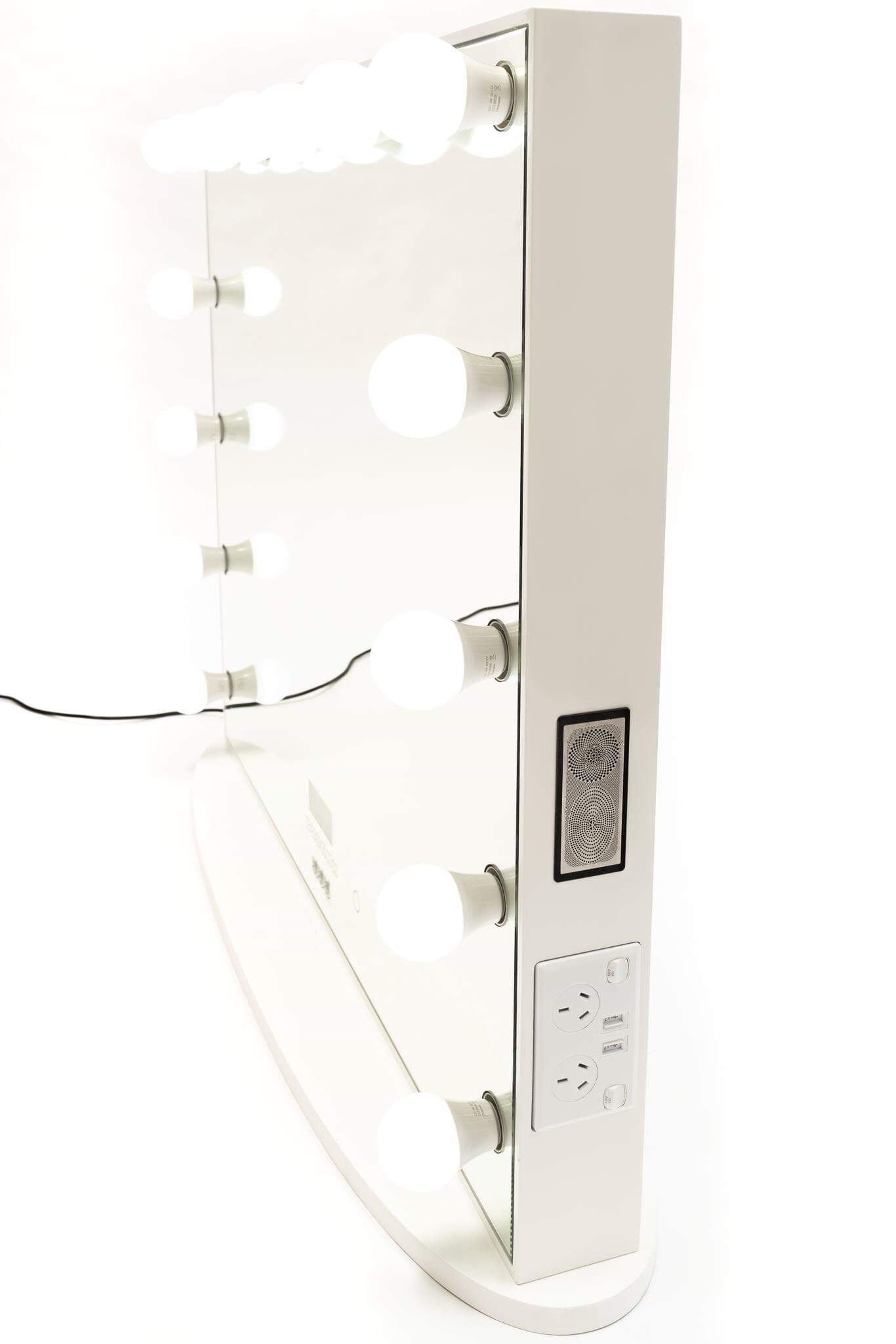 Hollywood Mirror HUGE SIZE XXXL with Bluetooth Speakers, Sensor Dimmer, USB,Power Points-SAME DAY SHIPPING LIMITED STOCK