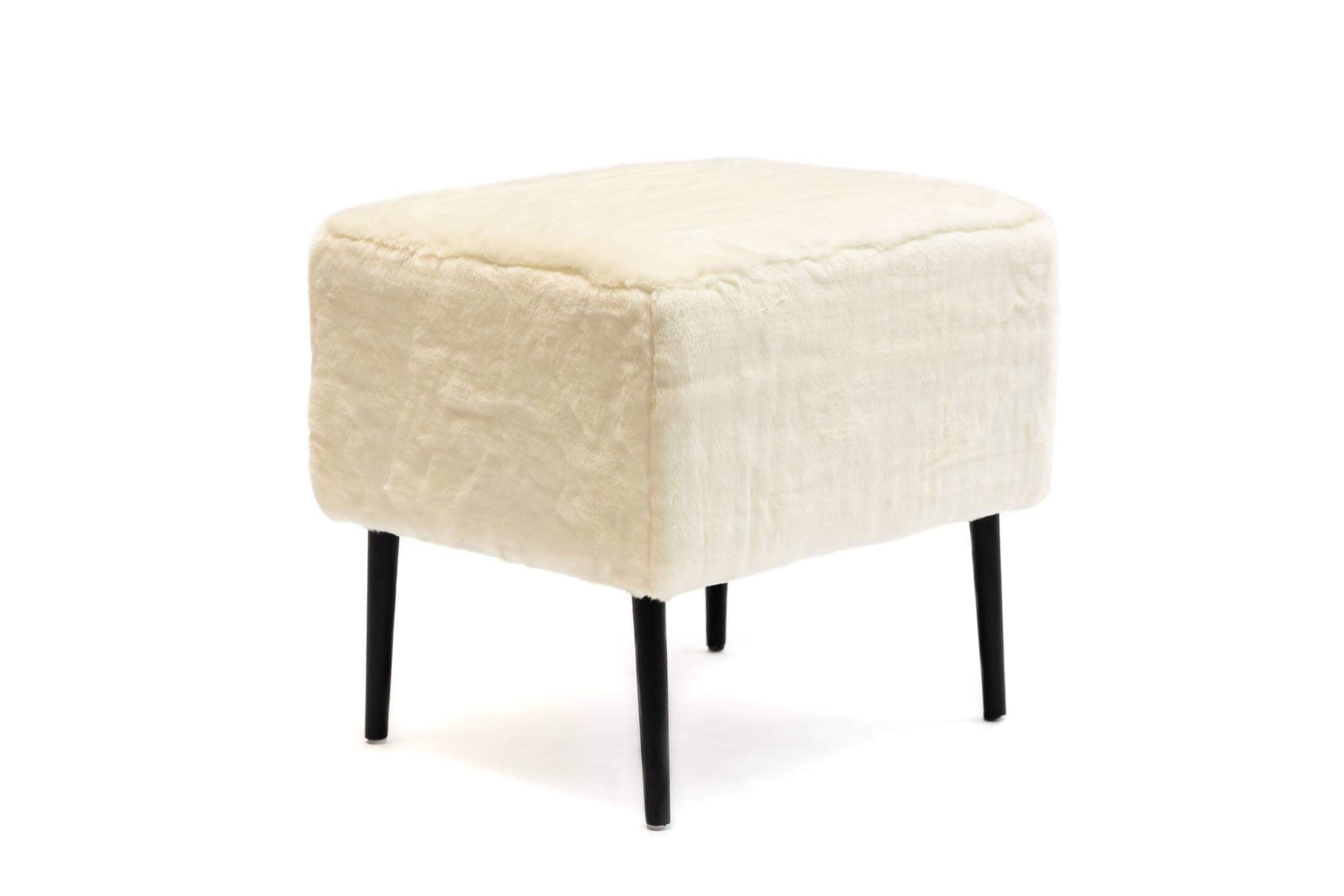 Image of: Makeup Dressing Table Vanity Stool White Faux Fur Xcelerator Online