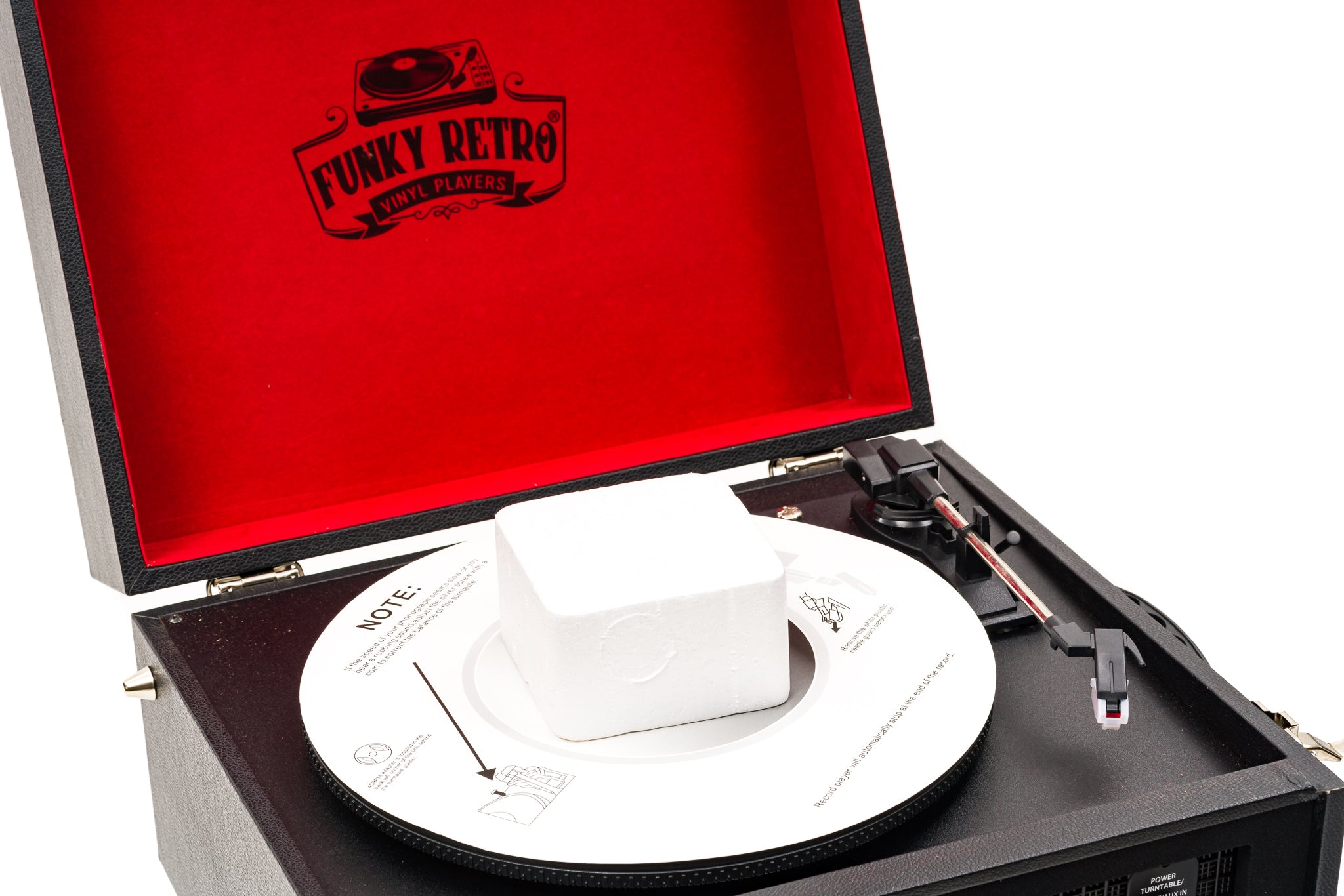 Designer Funky Retro Record / Vinyl Player / Turntable Black and Red