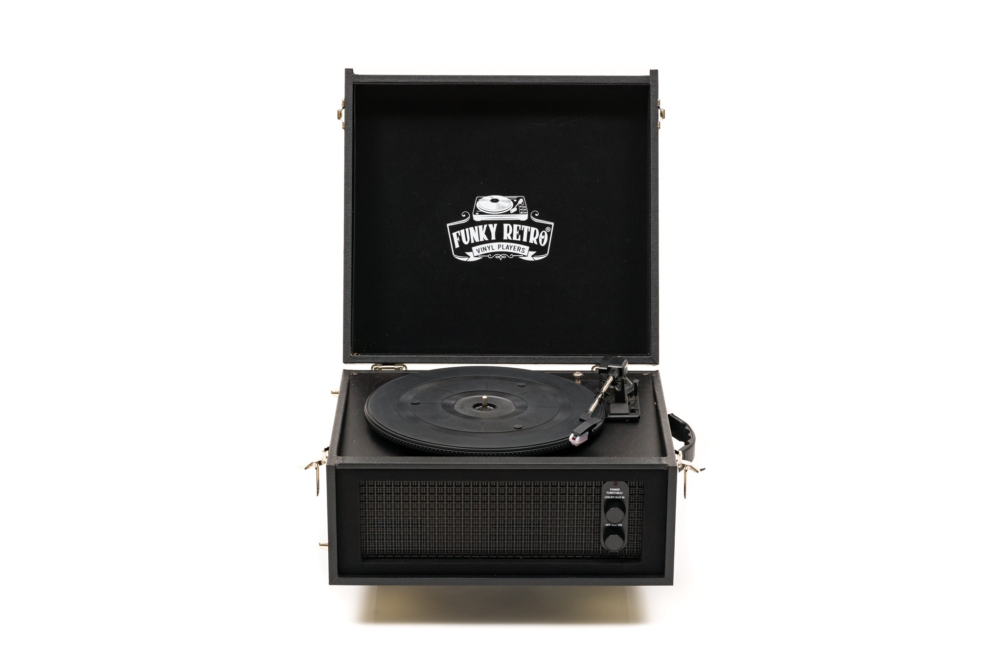 Designer Funky Retro Record / Vinyl Player / Turntable Black
