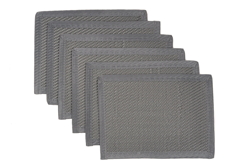 Outdoor Placemats 6 Pieces - Grey