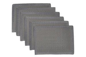 Outdoor Plastic Placemats 6 Pieces - Grey