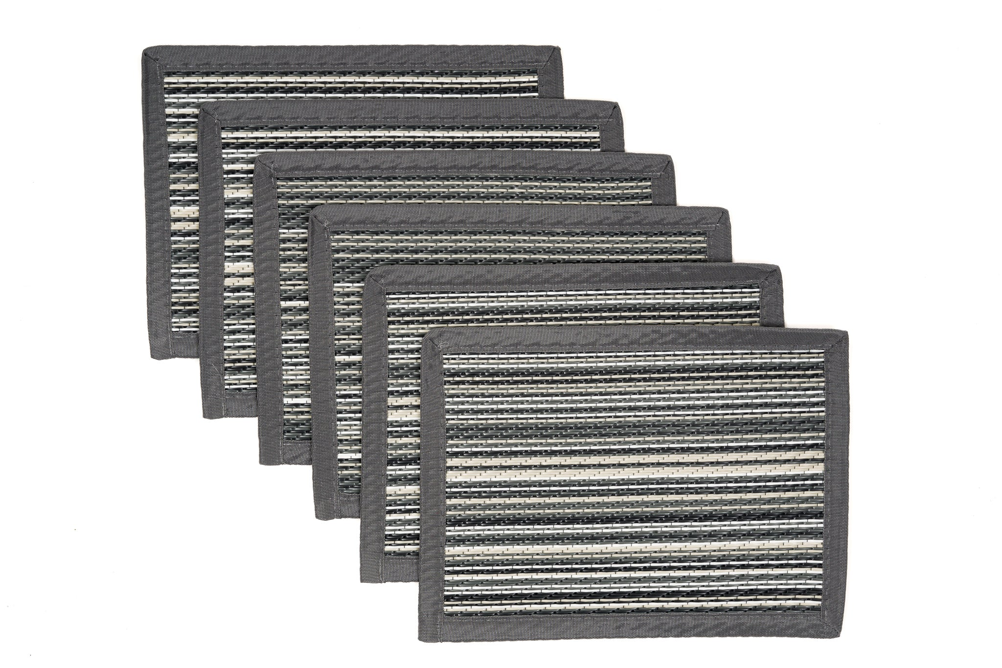 Outdoor Placemats 6 Pieces - Mexicali Grey