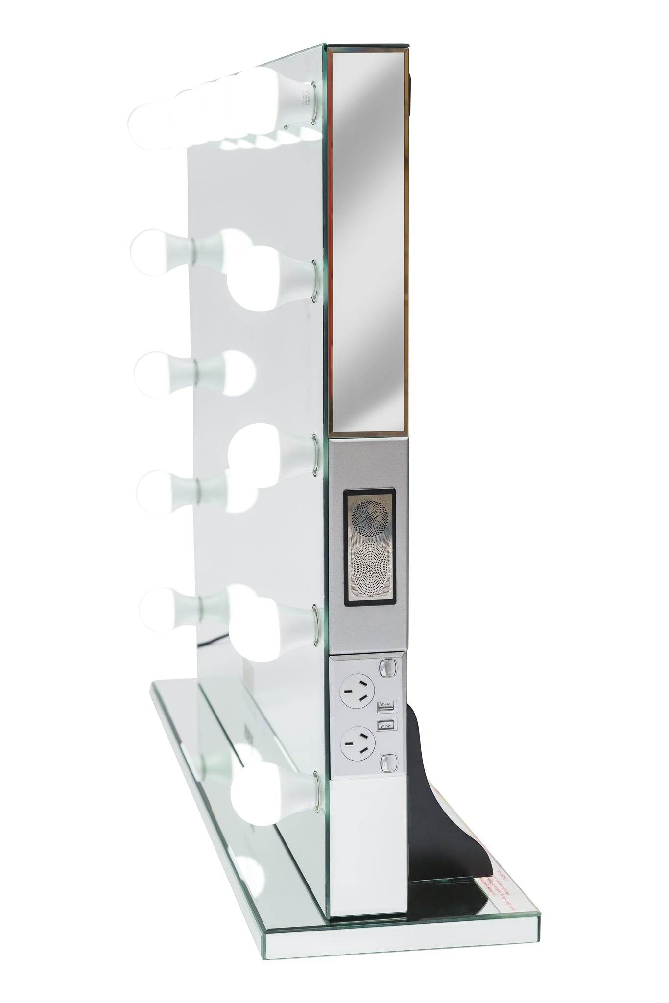 Hollywood Mirror HUGE SIZE XXXL with Bluetooth Speakers, Sensor Dimmer, USB,Power Points