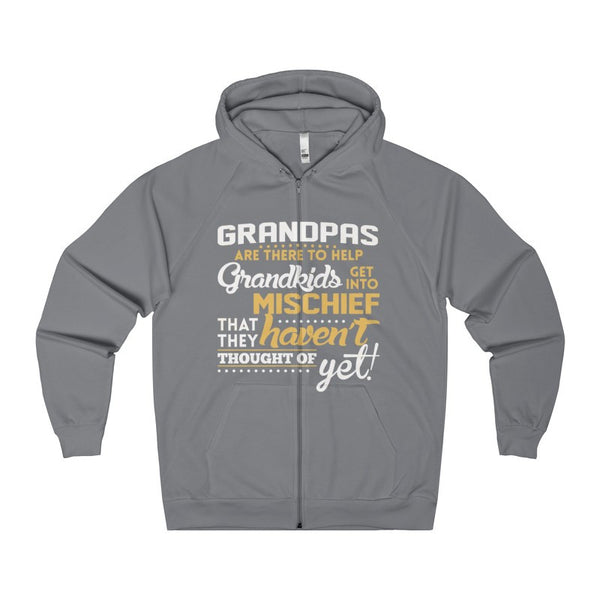 Grandpas Are There To Help Grandkid Get Into Mischief Men's Zip Hoodie-Hoodie-AshoppingZ