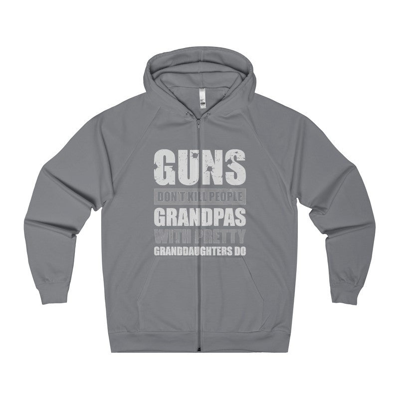 Guns Don't Kill People Grandpas With Pretty Granddaughters Do Women's Zip Hoodie-Hoodie-AshoppingZ