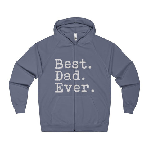 Best Dad Ever Men's Zip Hoodie-Hoodie-AshoppingZ