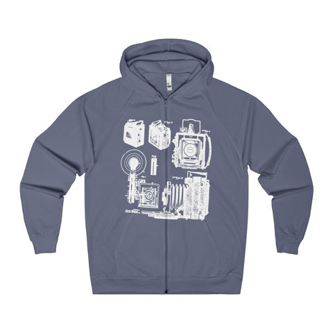 1938 Graflex Speed Graphic Camera Patent Drawing | Photographer Women's Zip Hoodie-Hoodie-AshoppingZ