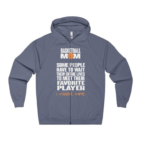 Basketball Mom Women's Zip Hoodie-Hoodie-AshoppingZ