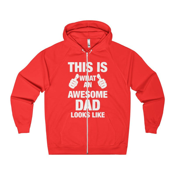 This Is What An Awesome DAD Looks Like Men's Zip Hoodie-Hoodie-AshoppingZ