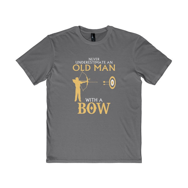 Old Man With A Bow Men's District T-Shirt-T-Shirt-AshoppingZ