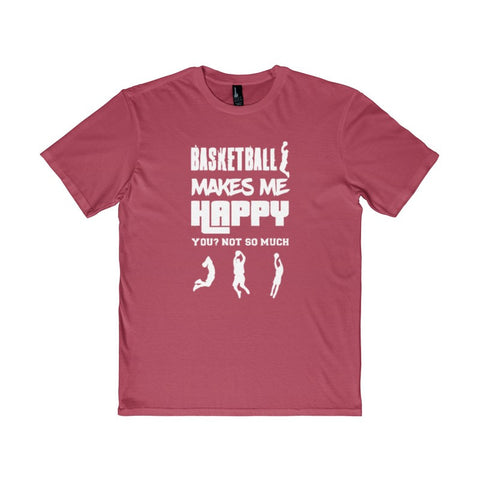 Basketball Makes Me Happy You? Not So Much Men's District T-Shirt-T-Shirt-AshoppingZ
