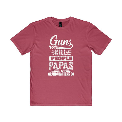 """Guns don't kill people"" Grandfather Men's District T-Shirt-T-Shirt-AshoppingZ"