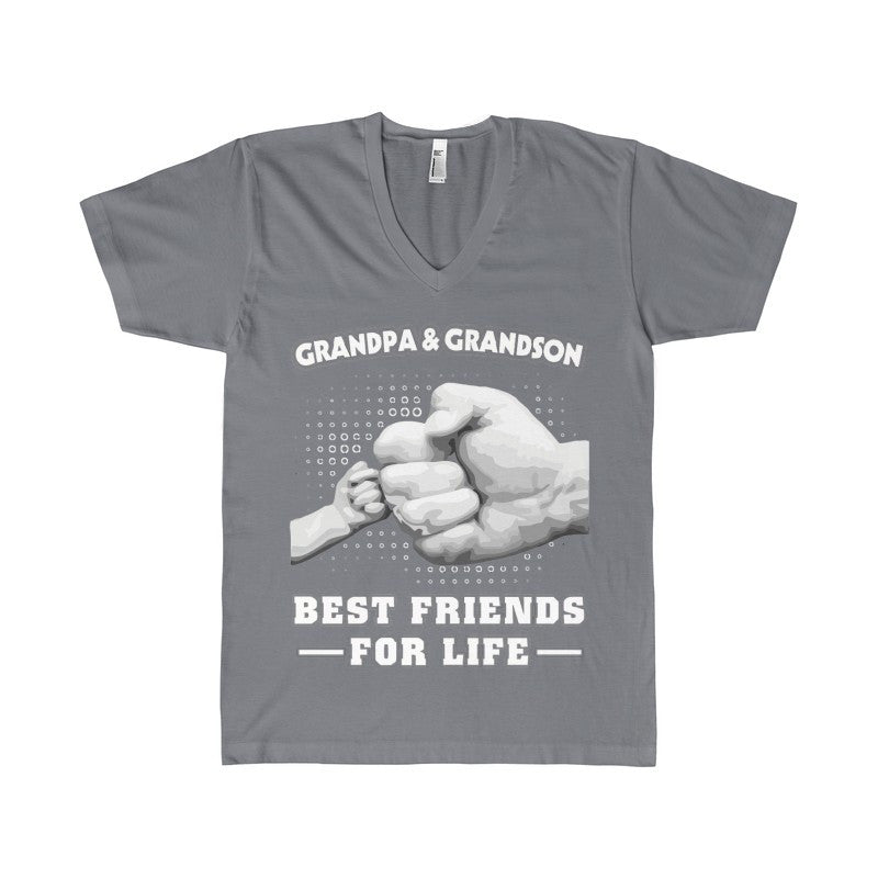 GrandPa and Grandson Best Friends For Life Women's V-Neck-V-neck-AshoppingZ