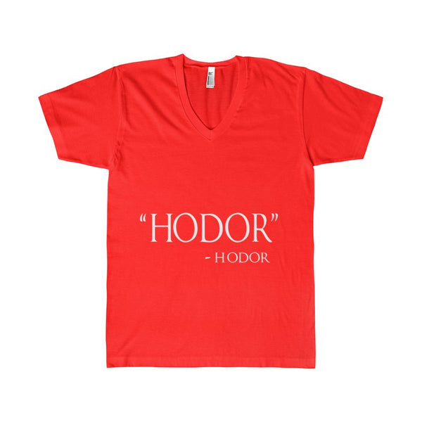 Adult Hodor Hodor Quote Women's V-Neck-V-neck-AshoppingZ