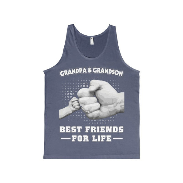 GrandPa and Grandson Best Friends For Life Men's Tank-Top-Tank Top-AshoppingZ