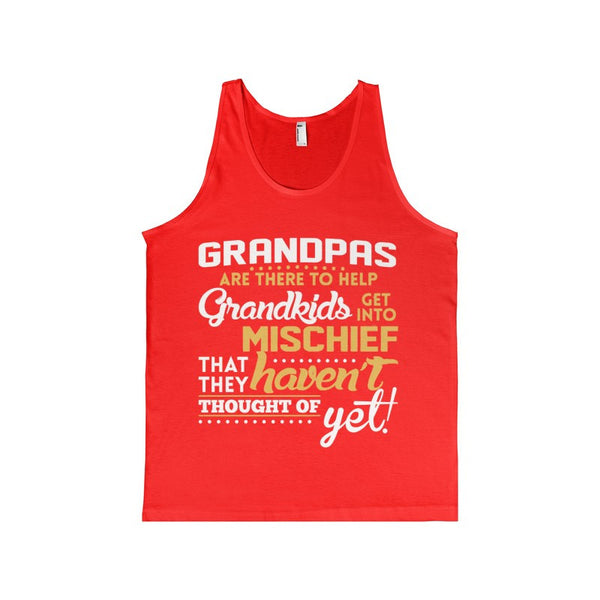 Grandpas Are There To Help Grandkid Get Into Mischief Men's Tank-Top-Tank Top-AshoppingZ