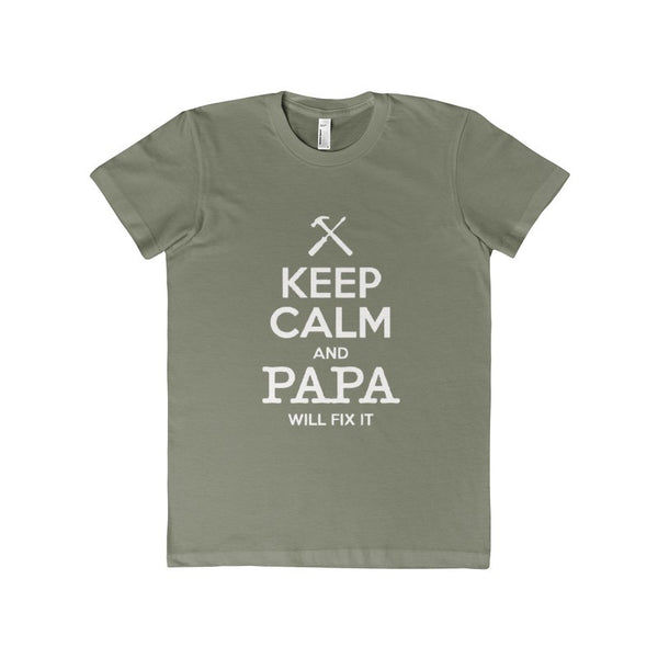 Keep Calm and Papa Will Fix It Women's T-shirt-T-Shirt-AshoppingZ