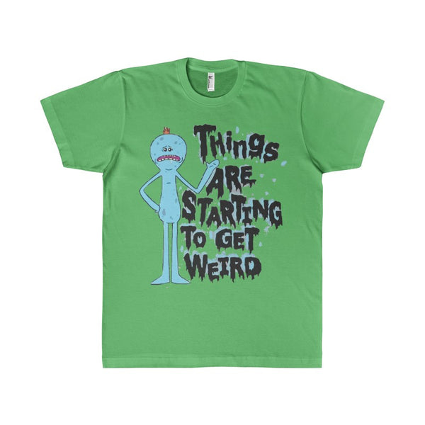 Things Are Getting Weird Mr Meeseeks Adult Men's T-Shirt-T-Shirt-AshoppingZ