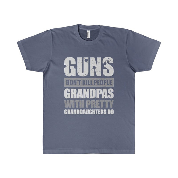 Guns Don't Kill People Grandpas With Pretty Granddaughters Do Men's T-Shirt-T-Shirt-AshoppingZ