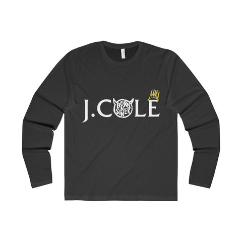 J.Cole Born Sinner Premium Long Sleeve Crew-Long-sleeve-AshoppingZ