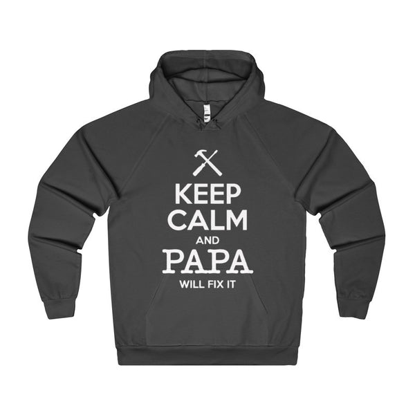 Keep Calm and Papa Will Fix It Men's Hoodie-Hoodie-AshoppingZ