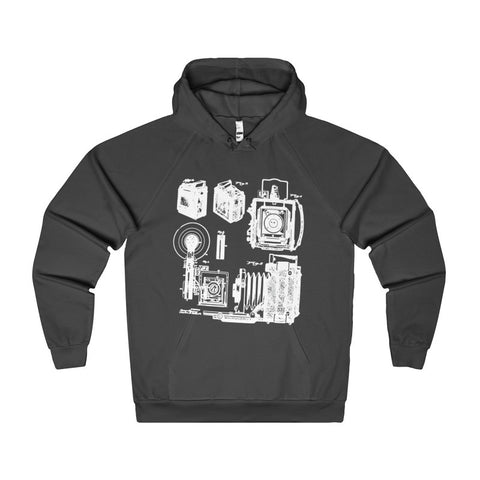 1938 Graflex Speed Graphic Camera Patent Drawing | Photographer Women's Hoodie-Hoodie-AshoppingZ