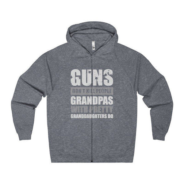 Guns Don't Kill People Grandpas With Pretty Granddaughters Do Men's Zip Hoodie-Hoodie-AshoppingZ