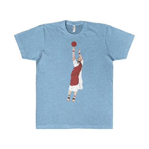 Jump-Shooting Jesus Basketball Men's T-Shirt-T-Shirt-AshoppingZ
