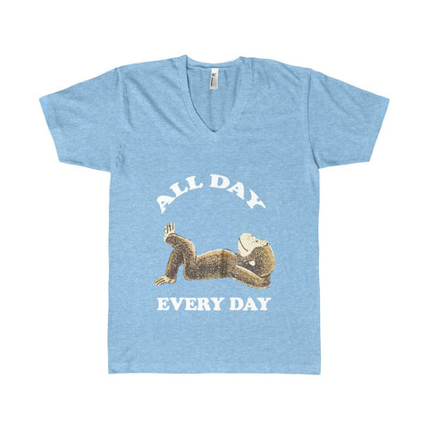 ALL DAY EVERY DAY MONKEY Women's V-Neck-V-neck-AshoppingZ