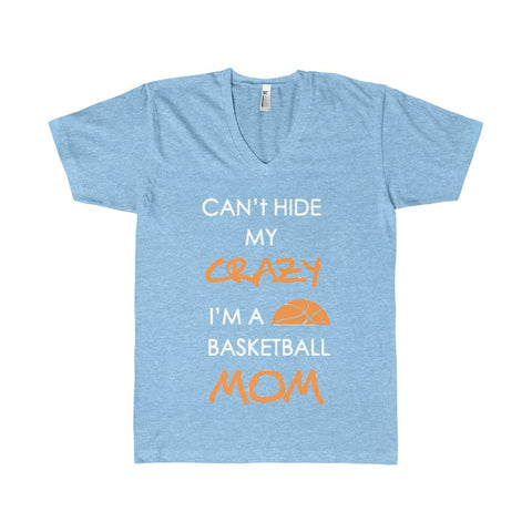 BASKETBALL MOM CRAZY Women's V-Neck-V-neck-AshoppingZ
