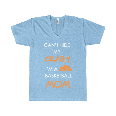 BASKETBALL MOM CRAZY Men's V-Neck-V-neck-AshoppingZ