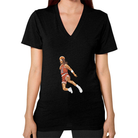 Air Jesus Christ Women's V-Neck Black AshoppingZ.com