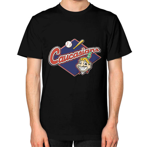 Caucasians Bomani Jones Men's T-Shirt Black AshoppingZ.com