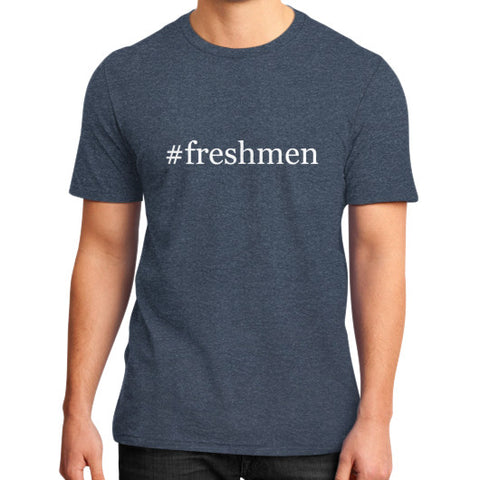 #freshmen Men's District T-Shirt Heather navy AshoppingZ.com