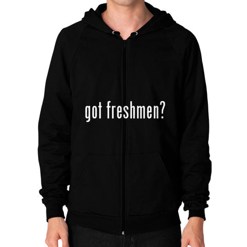 #freshmen Men's Zip Hoodie Black AshoppingZ.com