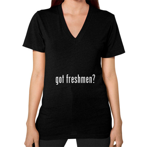 #freshmen Women's V-Neck Black AshoppingZ.com