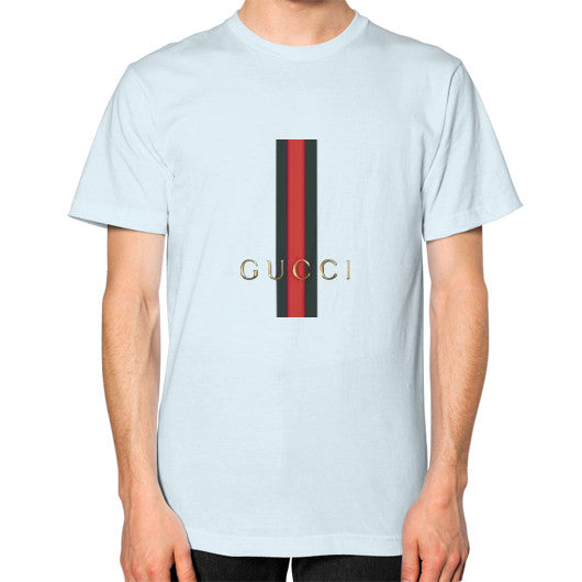 Gucci Logo For 2016 Men's T-Shirt Light blue AshoppingZ.com