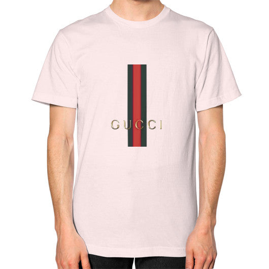 Gucci Logo For 2016 Men's T-Shirt Light pink AshoppingZ.com