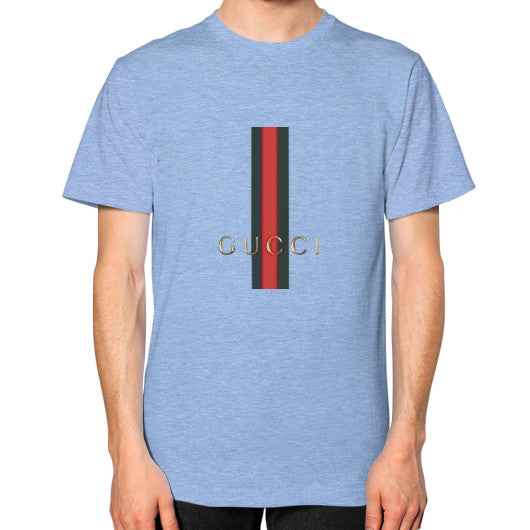 Gucci Logo For 2016 Men's T-Shirt Tri-Blend Blue AshoppingZ.com