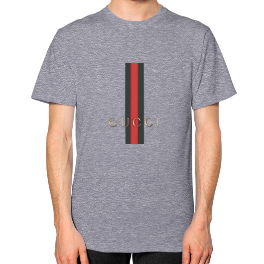 Gucci Logo For 2016 Men's T-Shirt Tri-Blend Grey AshoppingZ.com