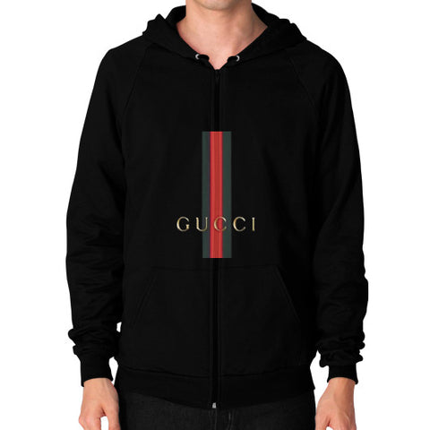 Gucci Logo For 2016 Men's Zip Hoodie Black AshoppingZ.com