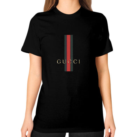 Gucci Logo For 2016 Women's Unisex T-shirt Black AshoppingZ.com