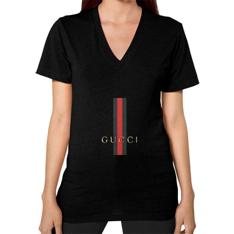 Gucci Logo For 2016 Women's V-Neck Black AshoppingZ.com