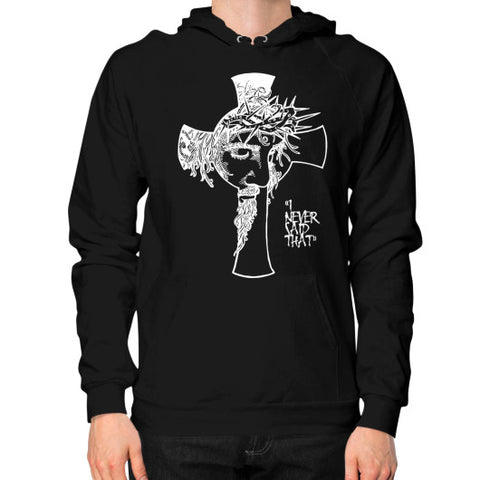 """I never said that"" - Jesus Christ Men's Hoodie Black AshoppingZ.com"