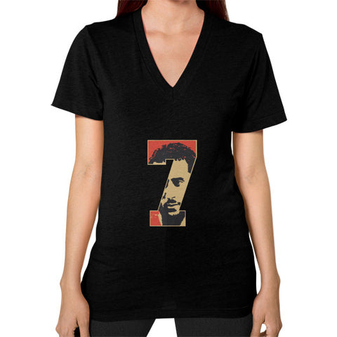 #Kaepernick Apparel Women's V-Neck Black AshoppingZ.com