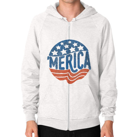 'MERICA | Legendary American Patriot Men's Zip Hoodie - AshoppingZ.com - 1