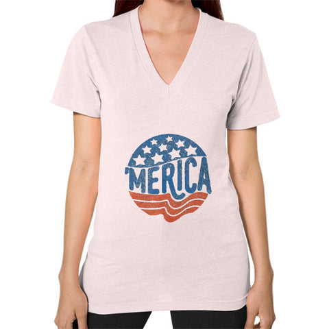 'MERICA | Legendary American Patriot Women's V-Neck - AshoppingZ.com - 1