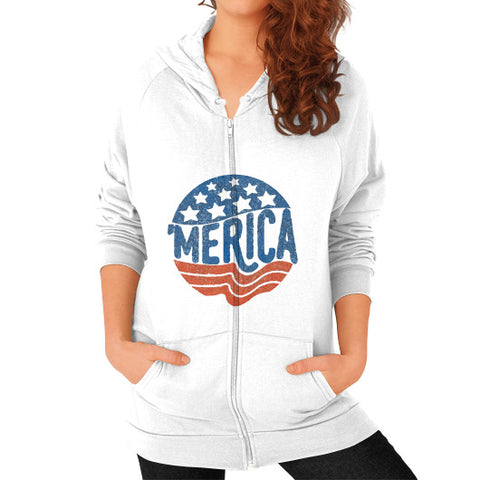 'MERICA | Legendary American Patriot Women's Zip Hoodie - AshoppingZ.com - 1